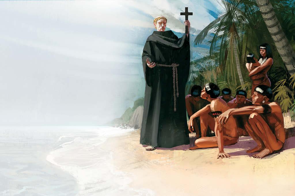 O irlandês são Brandão pode ter chegado ao Brasil após viajar em um barquinho de madeira, forrado com peles de animais
