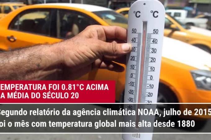 A alta temperatura de julho (e outras duas notícias)