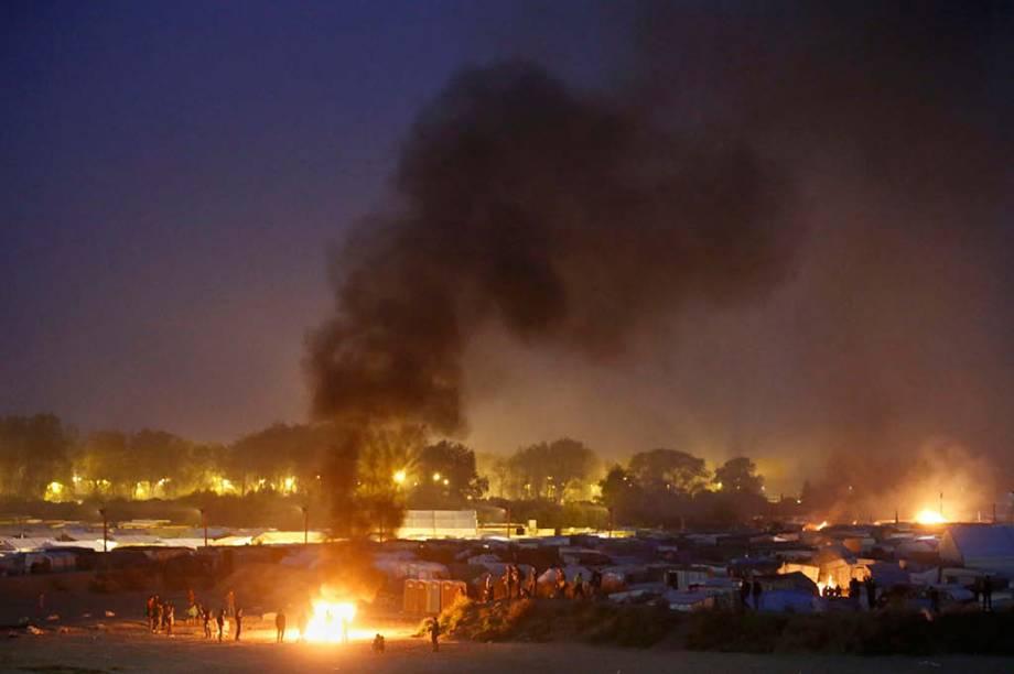 Destruição no campo de refugiados