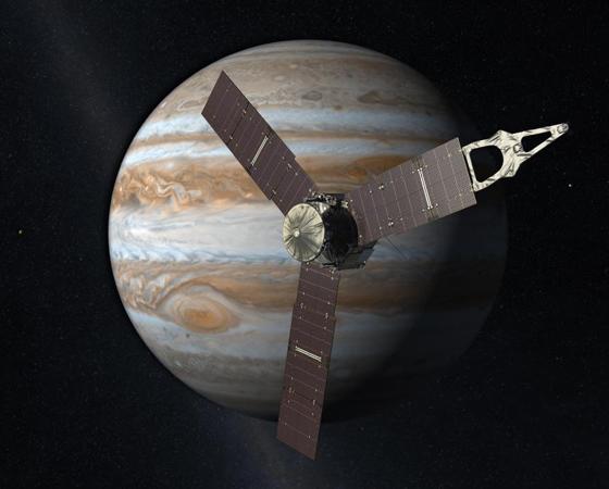 Juno (Lançamento: 2011) - Quando entrar na órbita de Júpiter em 2016, a sonda vai estudar como o gigante gasoso se formou, mapeando sua atmosfera e os campos gravitacional e magnético. A nave usa o chamado impulso gravitacional (a gravidade exercida pela Terra) para acelerar e viajou a distância entre a Terra e a Lua (402 mil km) em apenas um dia.