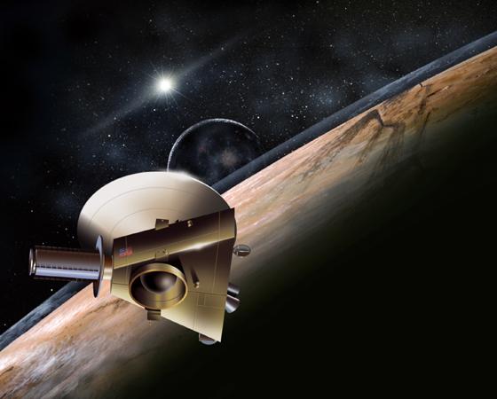 New Horizons (Lançamento: 2006) - Esta sonda pesquisará o longínquo e pequeno Plutão, que tem apenas 66% do diâmetro da Lua. Em 2015, a missão fará história ao sobrevoar o planeta, após percorrer os quase 5 bilhões de quilômetros que nos separam. A sonda também estudará os confins do Sistema Solar e os misteriosos objetos ali existentes.
