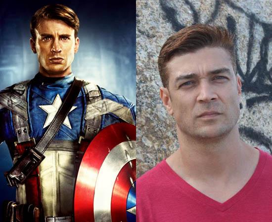 Dublador: Clécio Souto. É o dono da voz do Capitão América e de outros personagens do ator Chris Evans.