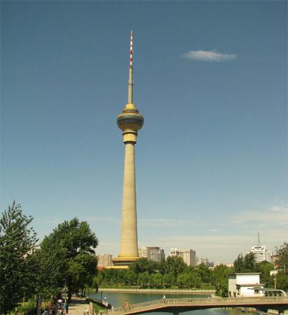 10. China Central Tower. Inaugurada em 1992, a torre tem 387 metros de altura e fica em Pequim, na China.