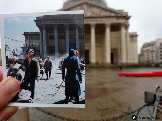 Ele fotografou também ruas, casarões e outros monumentos da capital francesa que aparecem no jogo.