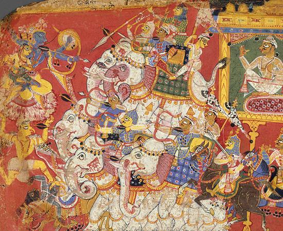 No segundo dia, chamado de Choti Diwali (ou pequeno Diwali) comemora o episódio em que o deus Krishna matou Narakasura, o demônio do mal (foto). Os religiosos cantam músicas para Lakshimi e Rama.