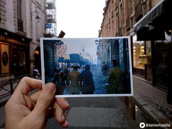 O francês Damien Hypolite resolveu percorrer as ruas de Paris em busca de alguns dos lugares que aparecem no jogo.