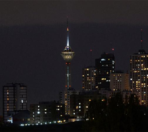 6. Milad. Esta torre de 435 metros de altura foi inaugurada em 2008, em Teerã, no Irã.