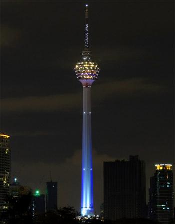 7. Menara Kuala Lumpur. A torre inaugurada em 1996 na capital da Malásia tem 420 metros de altura.