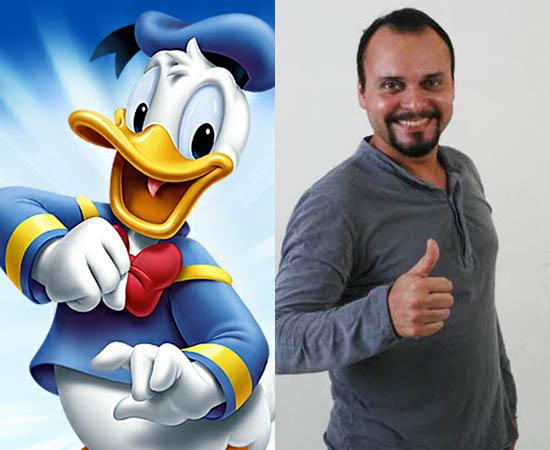 Dublador: Carlos Galvan. É o dublador oficial do Pato Donald. Já deu voz a Hurley (Lost) e ao Ursinho Pooh.