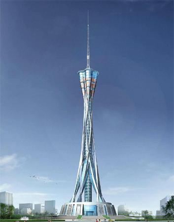 9. Henan Tower. Foi inaugurada em 2011 em Zhengzhou, na China. Tem 388 metros.