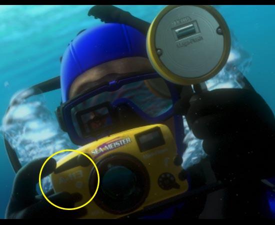 'A113' é o código da câmera do mergulhador de Procurando Nemo (2003).