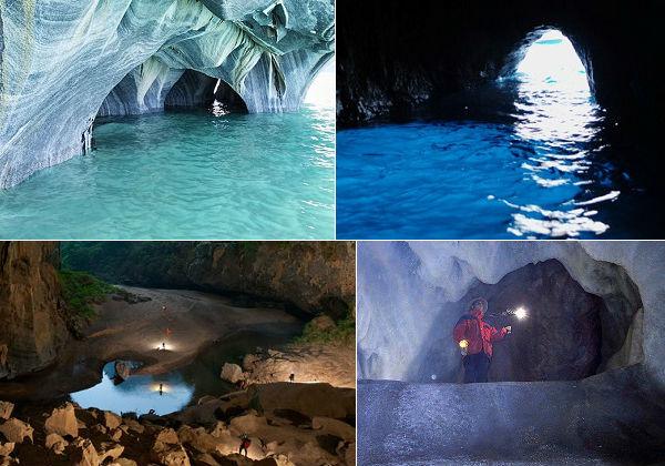 Elas podem ser pequenas ou gigantescas, não importa. Uma caverna é toda formação rochosa que tenha tamanho suficiente para permitir a entrada de seres humanos. Veja 10 cavernas fantásticas espalhadas pelo mundo.