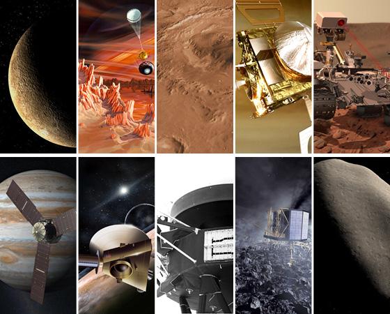 Em menos de cinco anos, o homem terá enviado sondas para todos os planetas do Sistema Solar, pousado em um asteróide pela primeira vez e dado um importante passo para uma viagem tripulada a Marte. Confira as missões espaciais responsáveis por essas e outras conquistas.