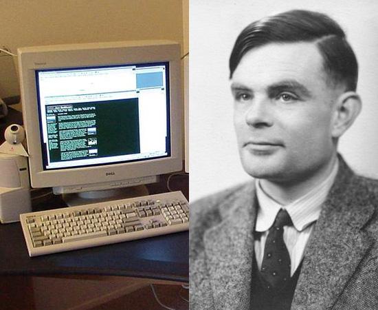 COMPUTADORES - O matemático Alan Turing ficou conhecido como o Pai da ciência da computação por ter formalizado o conceito de algoritmo e por ter desenvolvido o computador moderno. É bom lembrar que o primeiro computador pesava mais de 30 toneladas. Os microcomputadores foram popularizados na década de 1980, com os produtos da Apple, idealizados por Steve Jobs.