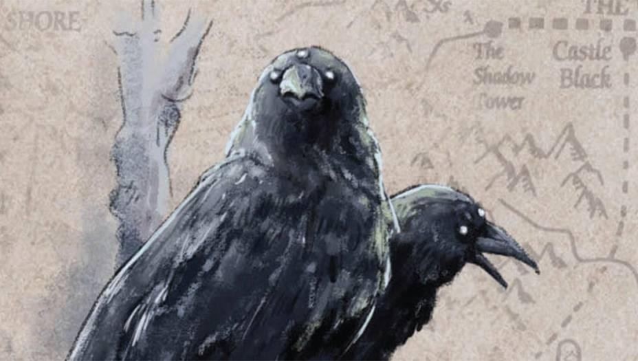 Muito parecido com os corvosreais, mas mais inteligentee capaz de imitar a vozhumana, como papagaios. Nomundo de <em>Game of Thrones</em>,os corvos funcionam comopombos-correio. Na Cidadela,o recanto dos meistres,localizado em Vilavelha,também existe uma raça decorvos brancos, mais forte eligeira, usada para anunciar as mudanças de estação.
