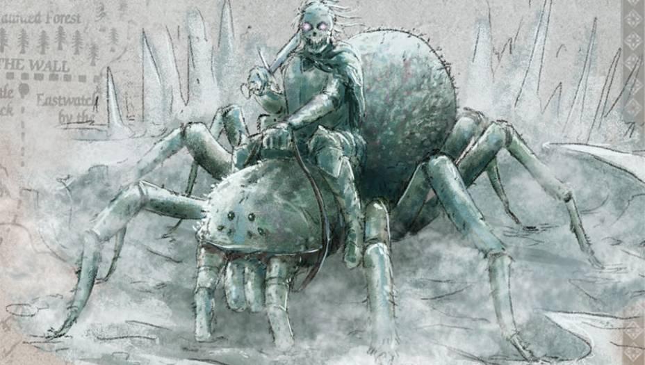 Pouco se sabe sobre essas criaturasbrancas gigantescas e lendárias chamadas aranhas-do-gelo.Elas seriam do tamanho de cãesde caça e acompanhariam ostemidos Outros. Segundo o medrosopatrulheiro Sam Tarly, os Outros usamessas aranhas como montaria.