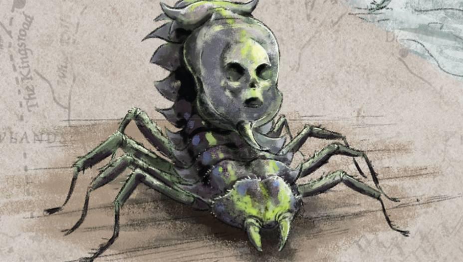 Pequeno animal peçonhento, semelhanteao escaravelho e com rostovagamentehumano.Amanticorapossui uma espora venenosa ehabita a região de Essos. Alguns relatosdizem que pode ser encontrado tambémem Sothoryos. Seu veneno letal é usadocomo arma por assassinos profssionais.
