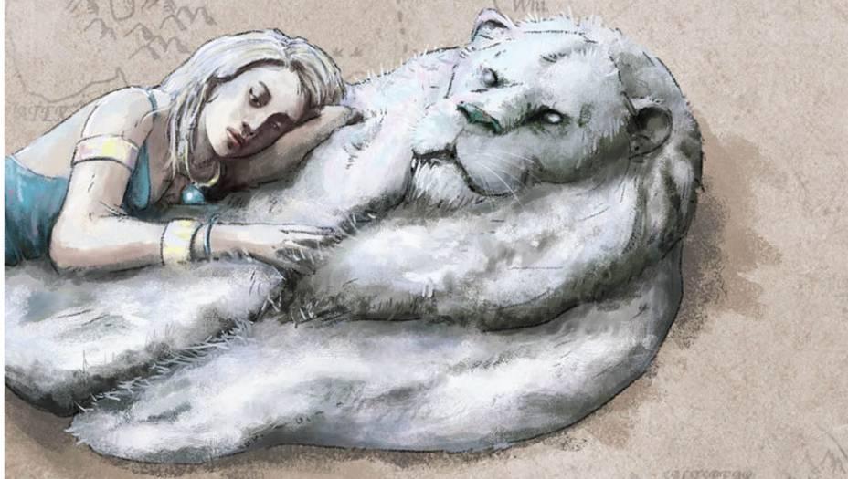 Hrakkar é um grande e raro leão branco, nativo do Mar Dothraki,em Essos. Khal Drogo matou um e trouxe suapele como presente para Daenerys, que costumausá-la para se lembrar do falecido marido.