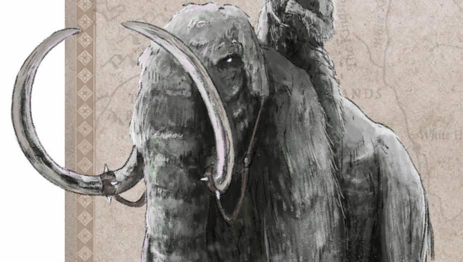 Grande paquiderme inspirado nosanimais pré-históricos que existiramde verdade e se extinguiramentre 10 mil e 4 mil anos atrás.O mamute é parecido com oelefante, mas maior e com o corpocoberto por pelos. Encontradono norte de Westeros e na ilhade Ibben, este animal é usadocomo montaria pelos Gigantes.