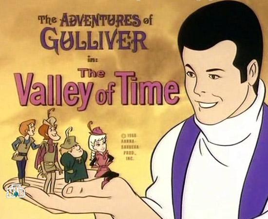As aventuras de Gulliver (1968) é um desenho animado sobre um inglês que sofre um naufrágio e vai parar em uma terra cujos habitantes tem poucos centímetros de altura.