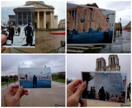 Uma batalha na Paris do século 18 é recriada no game Assassins Creed Unity. Um jogador resolveu percorrer as ruas da cidade e fotografar lugares que aparecem no game.