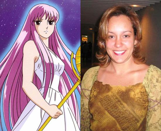 Dubladora: Letícia Quinto. Ficou conhecida pela voz de Saori/Athena (Cavaleiros do Zodíaco). Também dublou Claire (Lost) e Mai (Dragon Ball).