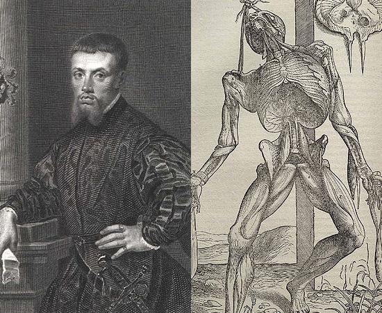 ATLAS DA ANATOMIA (1543) - Criado por Andreas Vesalius, médico belga, considerado o Pai da Anatomia Moderna.Na obra, o escritor descreveu o corpo humano em detalhes.