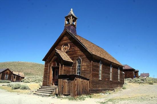 Parque Estadual de Bodie State, California, EUA. Cidade-fantasma da época da corrida do ouro.
