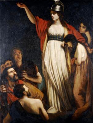 A rainha celta Boadiceia liderou várias tribos num levante contra os romanos, no primeiro século depois de Cristo. Nessa época o Império era liderado por Nero e já ocupava a região da Grã-Bretanha.