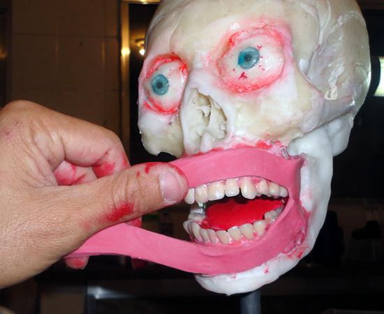 De todas as peças, a que mais gosta de replicar é a face humana.