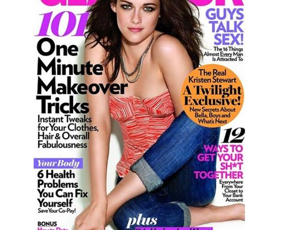 Alguém sabe aonde foi parar o braço esquerdo da atriz Kristen Stewart? Na capa desta revista é que não está.
