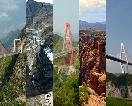 Nesta galeria, consideramos mais altas as pontes com a maior distância de suas plataformas até o chão. Por isso, pontes construídas sobre vales profundos e desfiladeiros levam vantagem no ranking. O resultado são fotos impressionantes. E assustadoras, se você tem medo de altura...