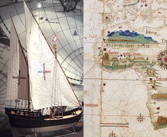 CARAVELA (1450) - Os portugueses inventaram esta embarcação no século XV, para ser usada nas Grandes Navegações. Graças à tecnologia, a América foi colonizada.