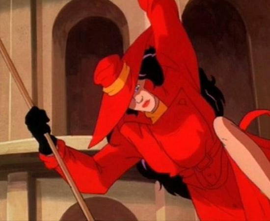 Onde Está Carmen Sandiego? (1994) é uma série animada sobre detetives que tentam encontrar a vilã Carmen Isabela Sandiego.