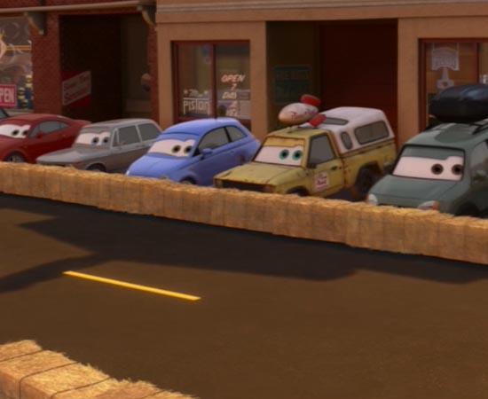 No filme Carros 2 (2011), o veículo da Pizza Planet aparece novamente e, desta vez, com mais destaque.