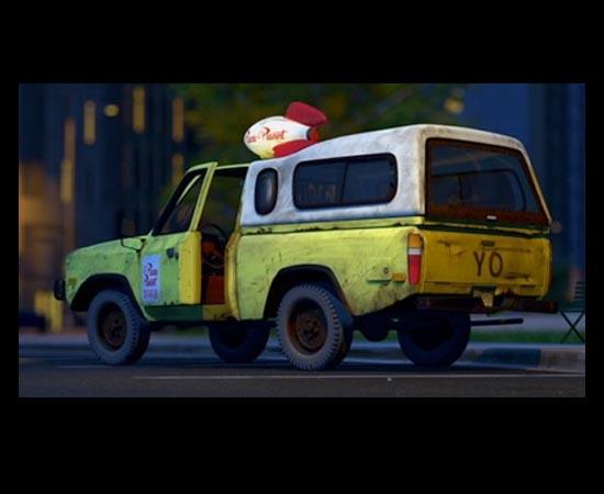 Em Toy Story 2 (1999), a caminhonete da Pizza Planet  é roubada pelos brinquedos, que tentam avisar a Woody que ele será enviado para o Japão.