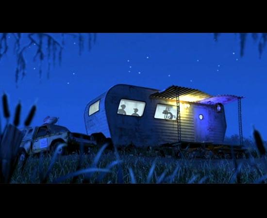 O veículo aparece novamente em Monstros S/A (2001), também ao lado de um trailer. A cena é quase idêntica à de Vida de Inseto.