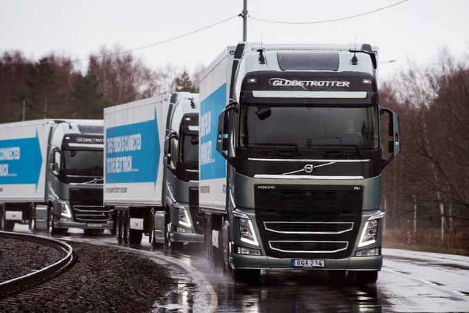 Divulgação   EU Truck Platooning
