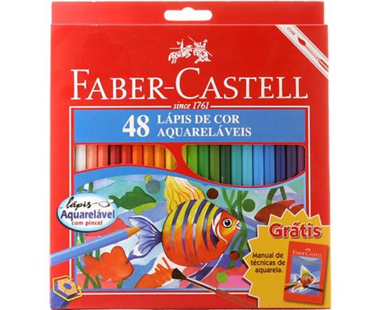 CONJUNTO DE LÁPIS DE COR - Muitas crianças fariam de tudo para ganhar este presente. Nada seria melhor do que desenhar e pintar com todas as 48 cores da caixinha!