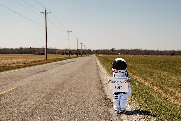 """Costa espacial da Flórida ou ruína"": o astronauta pede carona"