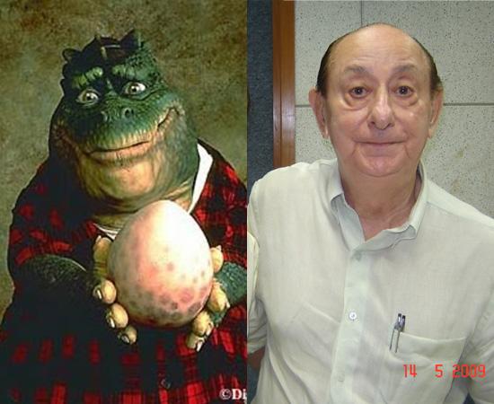 Dublador: José Santa Cruz. É o famoso intérprete de Dino da Família Dinossauro. Também dublou Magneto (X-Men).