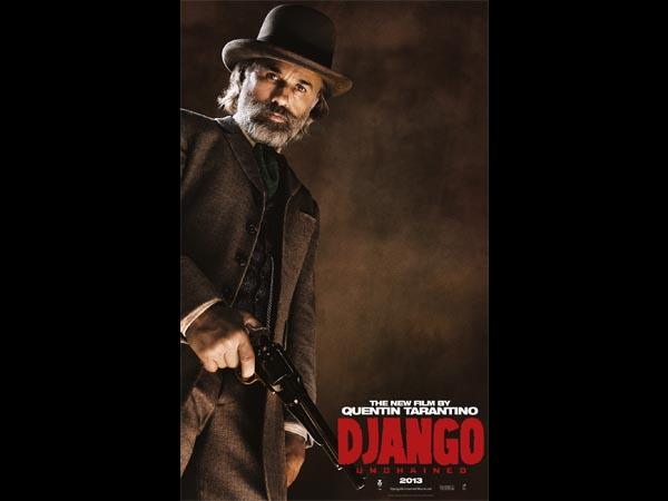 O novo filme do diretor Quentin Tarantino, Django Livre, estreará aqui no Brasil no dia 18 de janeiro de 2013. No longa, Christoph Waltz interpreta Dr. King Schultz, um caçador de recompensas que liberta Django. Clique em Leia Mais para ver a imagem em tamanho maior.