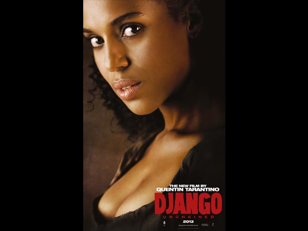 A atriz Kerry Washington interpreta a esposa de Django, Broomhilda Von Shaft. Clique em Leia Mais para ver a imagem em tamanho maior.