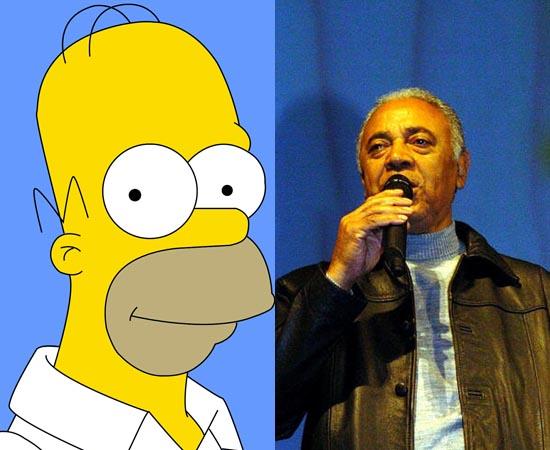 Dublador: Waldyr Santanna. Imortalizou a voz de Homer Simpson. Já fez vários trabalhos de dublagem para personagens de Eddie Murphy.
