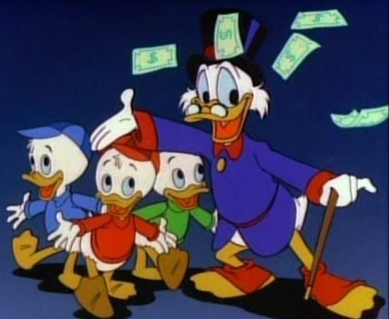 Duck Tales (1987) é uma série de animação sobre a família do Tio Patinhas.
