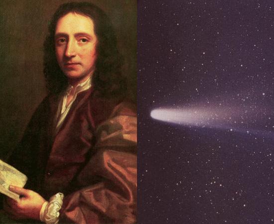 ÓRBITA DOS COMETAS (1705) - Neste ano, o cientista Edmond Halley publicou a obra Synopsis Astronomia Cometicae, na qual descreve, pela primeira vez, os movimentos de cometas. O cometa Halley foi batizado em sua homenagem.