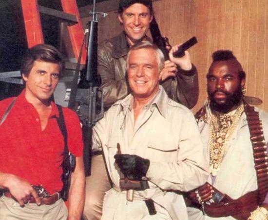 Esquadrão Classe A (1983) é uma série de TV que mostra a história de ex-integrantes do exército americano que trabalham como mercenários.