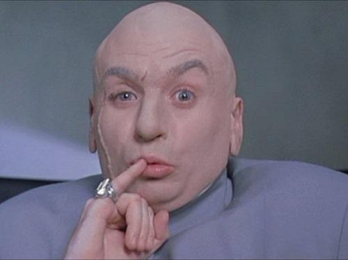 Dr. Evil, o vilão de Austin Powers, é uma paródia de vários vilões do cinema, em especial dos filmes do 007.