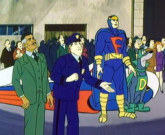 Falcão Azul e Bionicão são uma dupla de super-heróis que combate o crime de Cidadópolis.