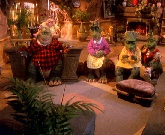 Família Dinossauro (1991) é uma série de TV que mostra a história de uma família de répteis que vive na Pré-História.